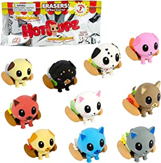Seven20 Hot Pupz Eraser Blind Box - Comes with 1 Pup, 1 Hot Dog Bun and 4 Toppings - Series 1 - Collect Them All