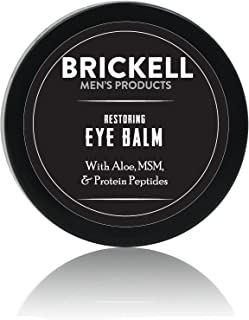 Brickell Men's Restoring Eye Cream for Men, Natural and Organic Anti Aging Eye Balm To Reduce Puffiness, Wrinkles, Dark Circles, Crows Feet and Under Eye Bags, .5 Ounce, Unscented