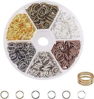 PandaHall Elite 400 Pcs Iron Split Rings Double Loop Jump Ring Diameter 8mm Jewelry Making Mixed Color