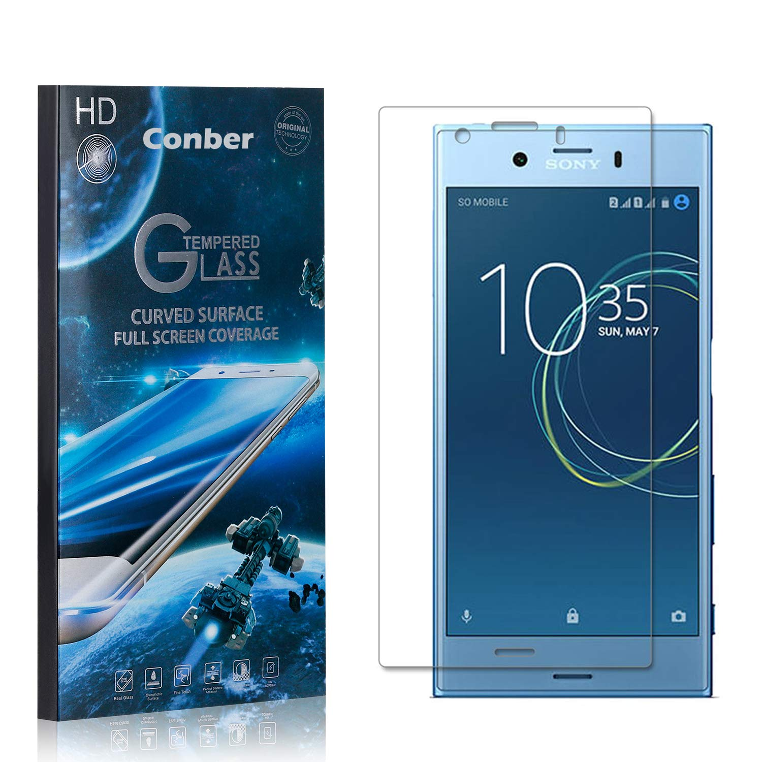 Conber 1 Pack Screen Protector Al sold out. for Compact S XZ1 Sony Today's only Xperia