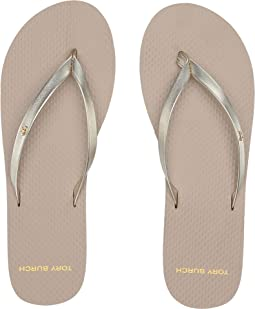 Metallic Leather Flip-Flop