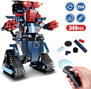 Remote Control Robot, RC Building Kit Building Block Robot Educational RC Robot Bricks STEM Toys Construction Engineering Building Blocks Learning Set Intelligent Gift for Kids Age 8 Years Old and up