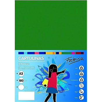 Pack 50 Cartulinas Color Verde Oscuro Tamaño A3 180g: Amazon.es: Oficina y papelería
