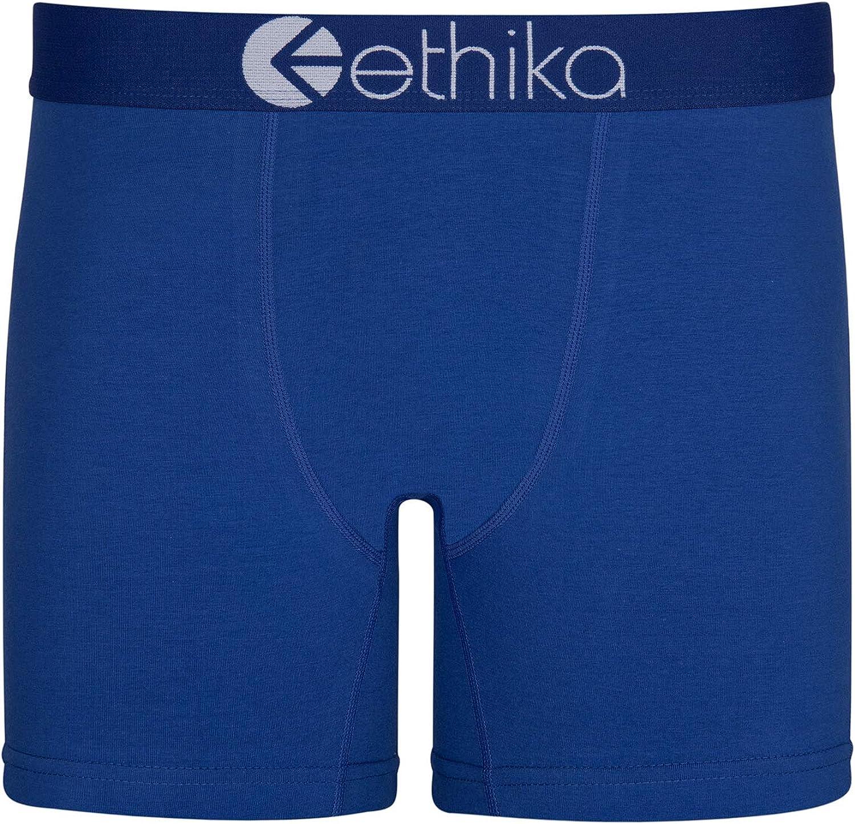 Ethika Mens Mid Boxer Briefs | Winner Blue