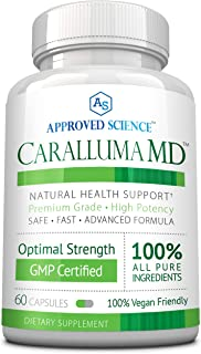 Caralluma MD - Optimize Health - 100% Caralluma Fimbriata Whole Plant Extract - No Additives, Preservatives or Artificial Ingredients. 1 Bottle.