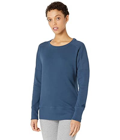 adidas Golf Go-To Primegreen Crew Sweatshirt (Navy) Women