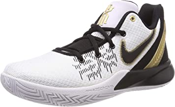 Nike Men's Kyrie Flytrap II Basketball Shoes, White/Metallic Gold-Black