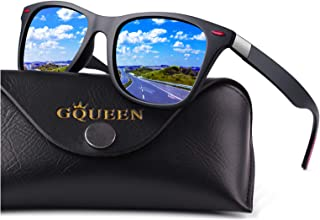 GQUEEN Classic Polarised Sunglasses for Men Women Driving Fishing Sports UV400, MO90