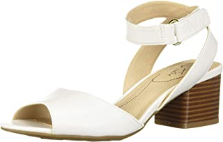 LifeStride Women's Rosetta Heeled Sandal, White, 5 M US