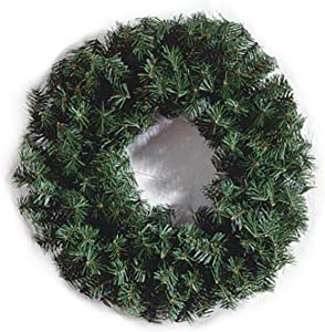 Canadian Pine Wreath - 220 Tips - Green - 24 inches (1 pack)