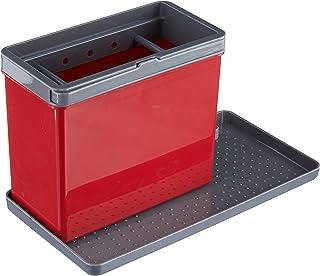 Metaltex Tidytex Organiseur d'évier Plastique ABS Rouge/Gris 24 x 13 x 14 cm