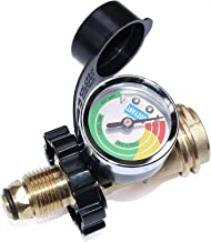 Old to New Connection Type Silver DOZYANT POL Propane Tank Adapter with Gauge Universal Fit Convert POL LP Tank Valve to QCC1 // Type 1 Propane Tank Gauge