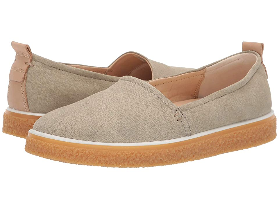 ECCO Crepetray Slip-On (Sage Camel Nubuck) Women's Slip on Shoes