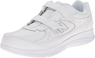 New Balance Women's WW577 Hook and Loop Walking Shoe White