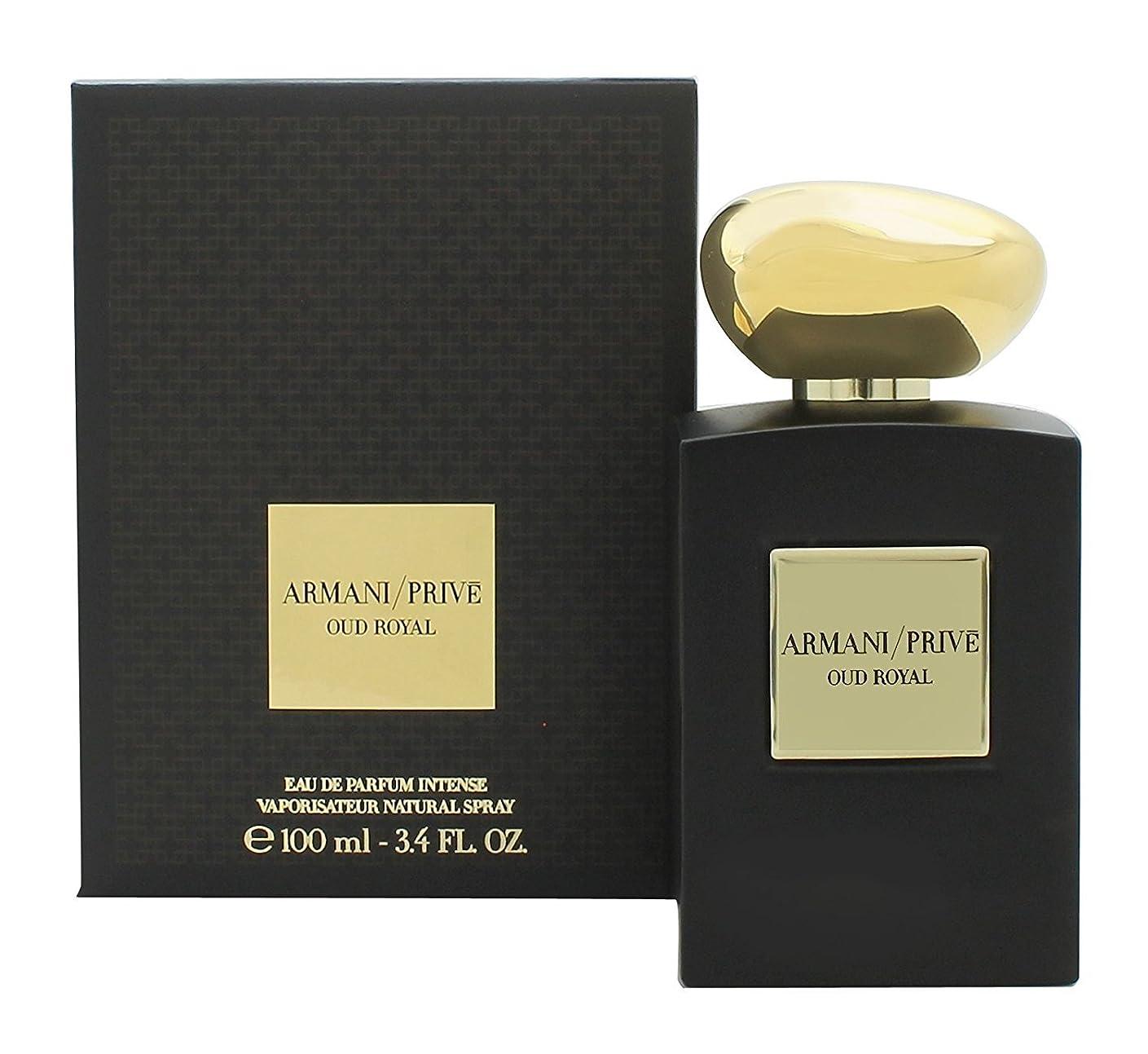 気怠いパドル実り多いジョルジオアルマーニ Prive Oud Royal Eau De Parfum Intense Spray 100ml/3.4oz並行輸入品