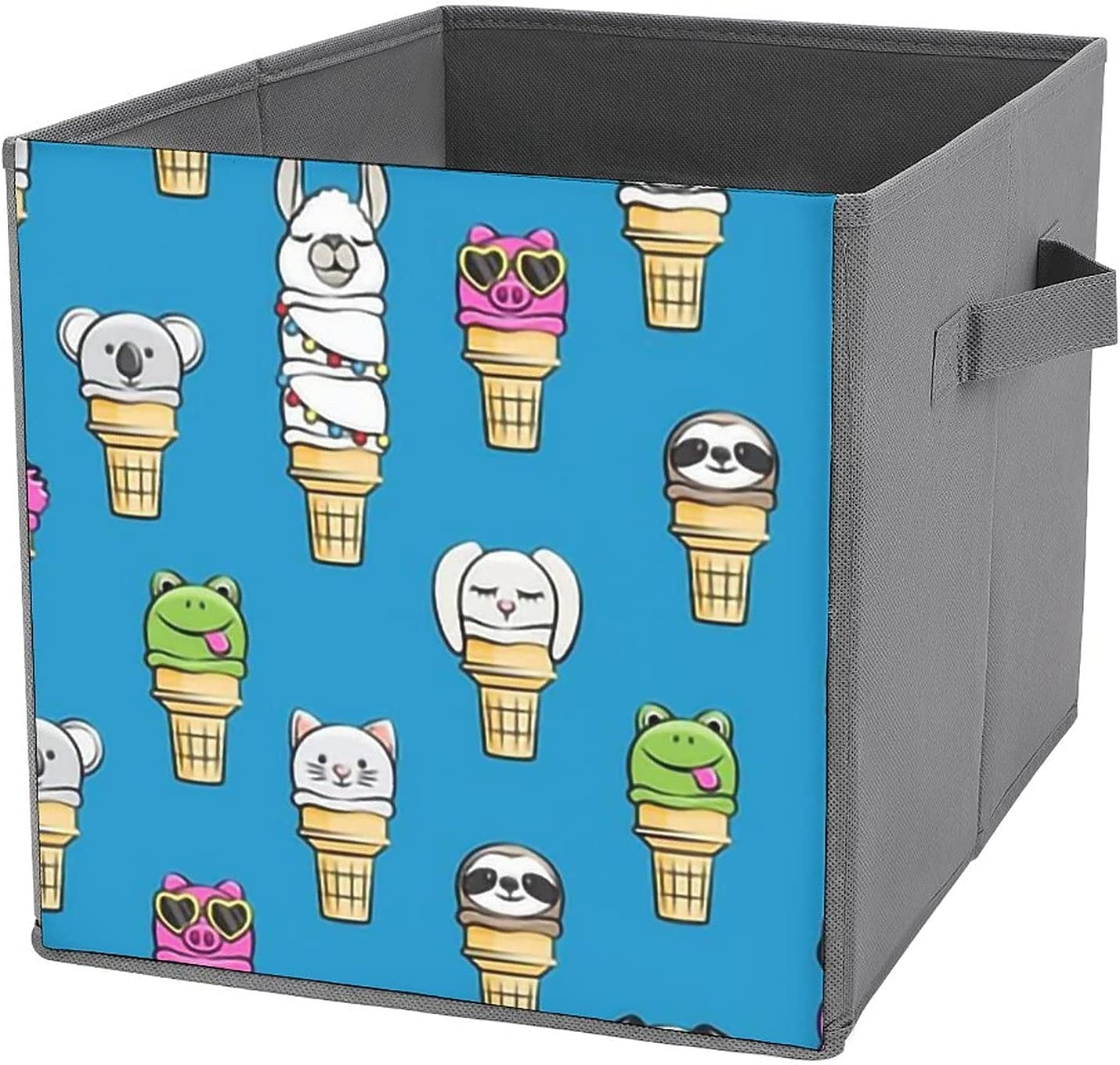 MMJUI Animal ice Challenge the lowest price Cream Cones Summer Fun Folding Blue Finally popular brand Bin Storage