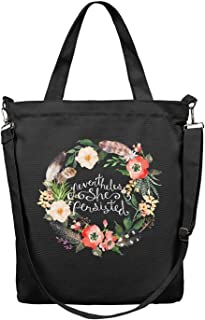 Women Tote Craft Bag Large Capacity Cloth Shopping Bag Nevertheless She Persisted Flower Body Handbag Essential Everyday Work Shoulder Bag Grocery Beach Tote Duck Bag Business Crossbody Bag