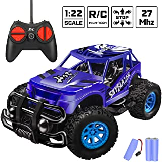 Remote Control Car - Durable Non-Slip Offroad Shockproof RC Racing Jeep (Dark Blue) RC Toys Car for Kid 3 4 5 6 7 8 9 Year Old Boys and Girls Best Gifts