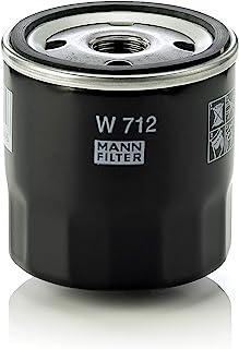MANN-FILTER W 712 Original Aceite, Filtro hidráulico y de ventilación, para automóviles y vehículos de Utilidad, Amarillo, 36