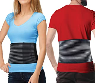 Hernia Belt for Men and Women - Abdominal Binder for Umbilical Hernias & Navel Belly Button Hernias with Compression Pad for Hernia Support and Stomach Hernia Brace Pain Relief (Large/XL)