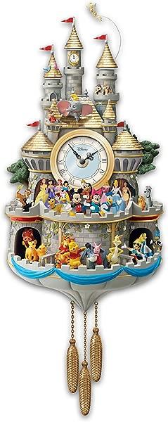 布拉德福德交易所迪士尼布谷鸟钟有 43 个角色灯光音乐和运动