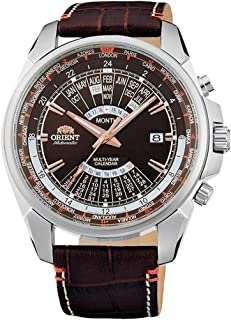 ORIENT Sports Automatic World-Time Multi-Year Calendar with Brown Dial Leather EU0B004T