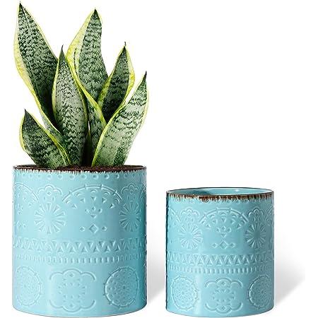 aloe planter Ceramic planter succulent pot drainage hole purple planter blue planter gray planter