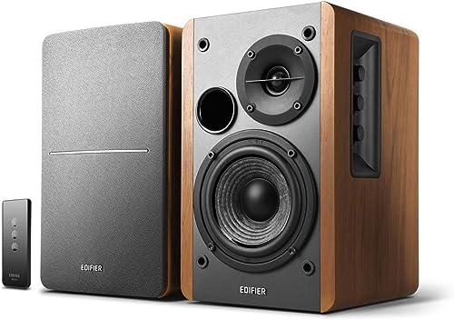 Edifier R1280T Powered Bookshelf Speakers - 2.0 Active Near Field Monitors - Studio Monitor Speaker - Wooden Enclosur...