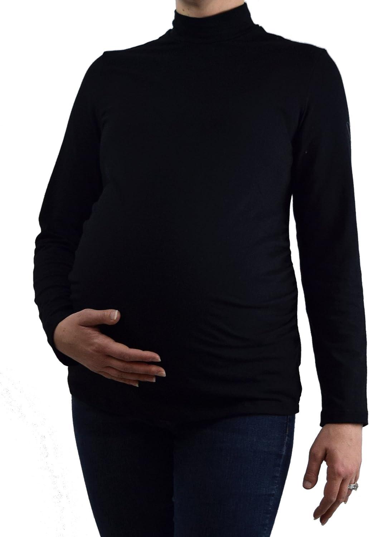 Embrace Your Bump Black Maternity Turtleneck TShirt