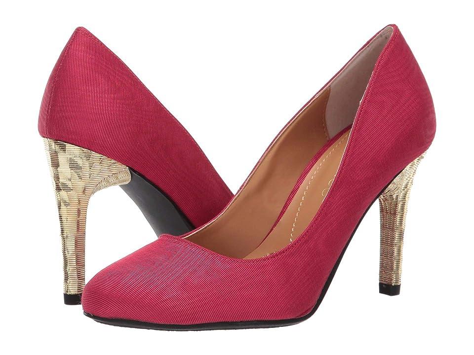 J. Renee Gilana (Red Faille Fabric) High Heels