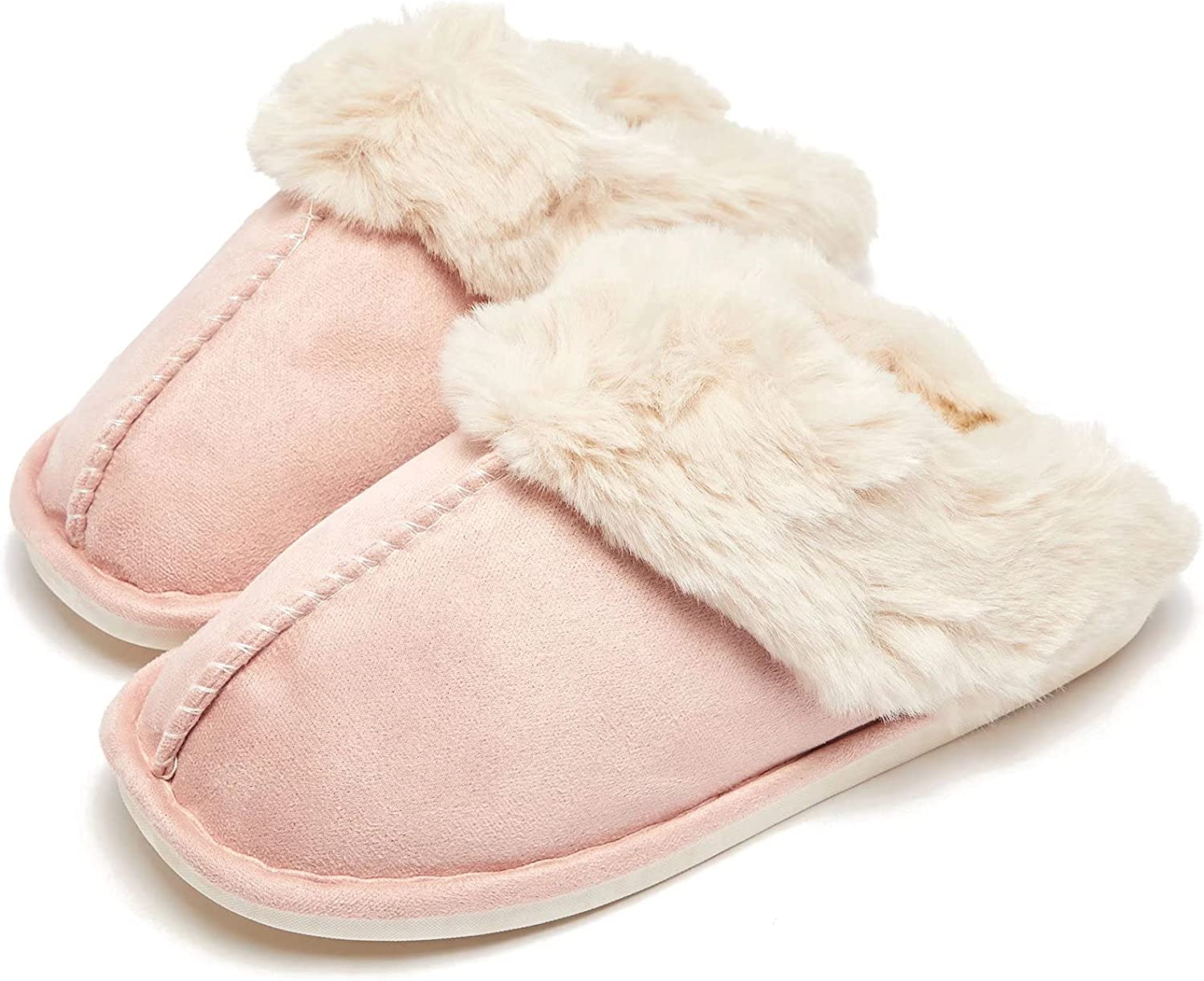 HOBIBEAR Slip on Max 41% OFF Fuzzy House Slippers Complete Free Shipping Women with for Men Memory