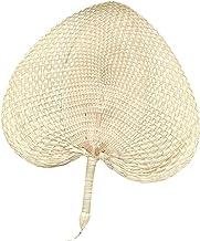 Handgemaakte Rotan Fan Bamboe Palmen Fan Natuurlijke Hand Fan Perzikvormige Geweven Fan Zomer Fan voor Bruiloften Feesten ...
