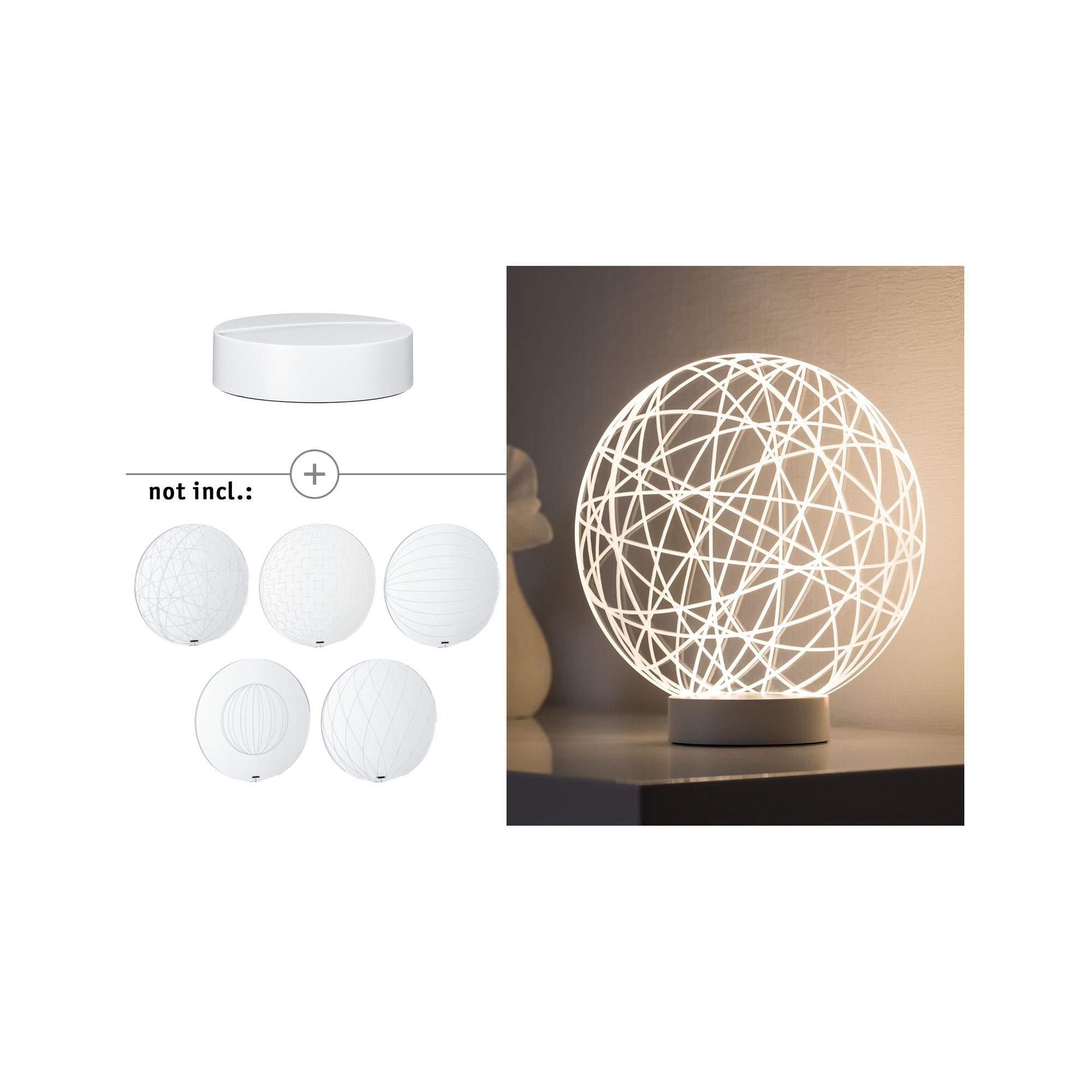 ポールマンバーマン795.35 3D基本テーブルランプアルミホワイトマット79535装飾ライト間接照明ムードライトナイトライト