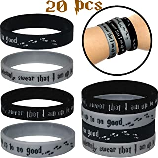 20 pcs Wristband Party Favors Wizard Witches Halloween Harry Theme party supplies Pinata filler school goodie bags (HP, Kids)