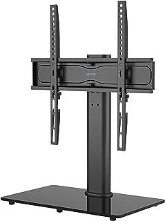 BONTEC Soporte Pedestal TV Peana para TV Giratorio Soporte Mesa TV de 26-55 Pulgadas LED/LCD/Plasma/Curva/Plana Giratorio...