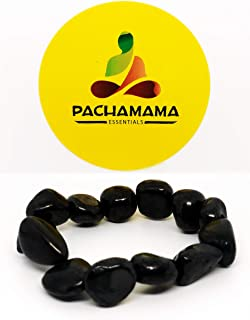 Pachamama Essentials Authentic Shungite Nugget Bracelet Stretchy from Karelia Region Russia, Against EMR, EMF Protection