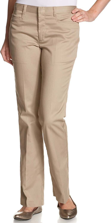 Dickies Juniors Flare Bottom Pant, Khaki, 3