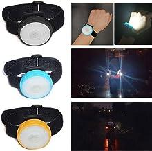 Grunda Luz LED amarilla recargable USB para cochecito de bebé con 2835 LED extremadamente brillantes, 4 en blanco y 2 en rojo, se puede ver y ver con el cochecito, apto para todos los cochecitos