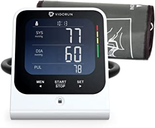 ?New Version?Vigorun Blood Pressure Monitor Upper Arm, Automatic Digital BP Machine Large Cuff, LCD Backlit, Irregular Heartbeat Detector, Memory Function for 2 Users for Home Use