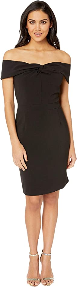 Gail Woven Off the Shoulder Sheath Dress