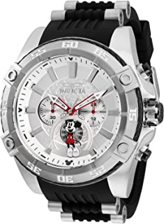 Invicta Men's Disney Limited Edition Stainless Steel Quartz Watch with Silicone Strap