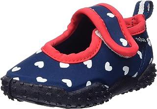 Playshoes Souliers de Sports Aquatiques avec Protection UV Coeur, Chaussures pour Piscine et Plage Fille