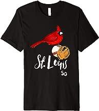 Saint Louis Red Cardinal Tshirt Number 50 Baseball Art Premium T-Shirt