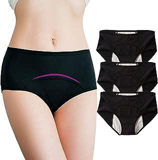 Women Period Panties Breathable Teen Girls Leak Proof Briefs Menstrual Underwear for Heavy Flow