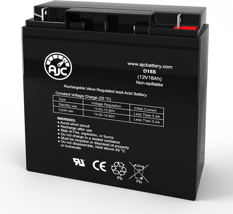 AJC Battery Compatible with EaglePicher CFM12V18 12V 18Ah UPS Battery