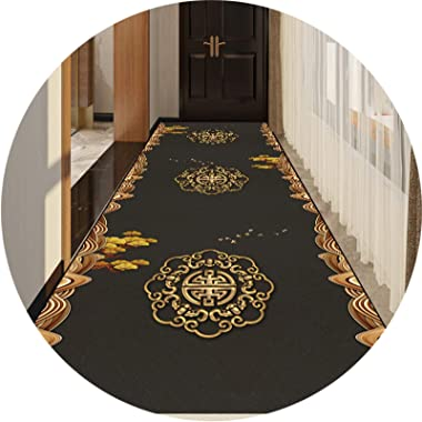 JIAJUAN Hallway Runner Rug, Washable Moisture Absorption Non-Slip Doormat Cuttable Thickness 0.6cm, Customizable Carpet (Colo