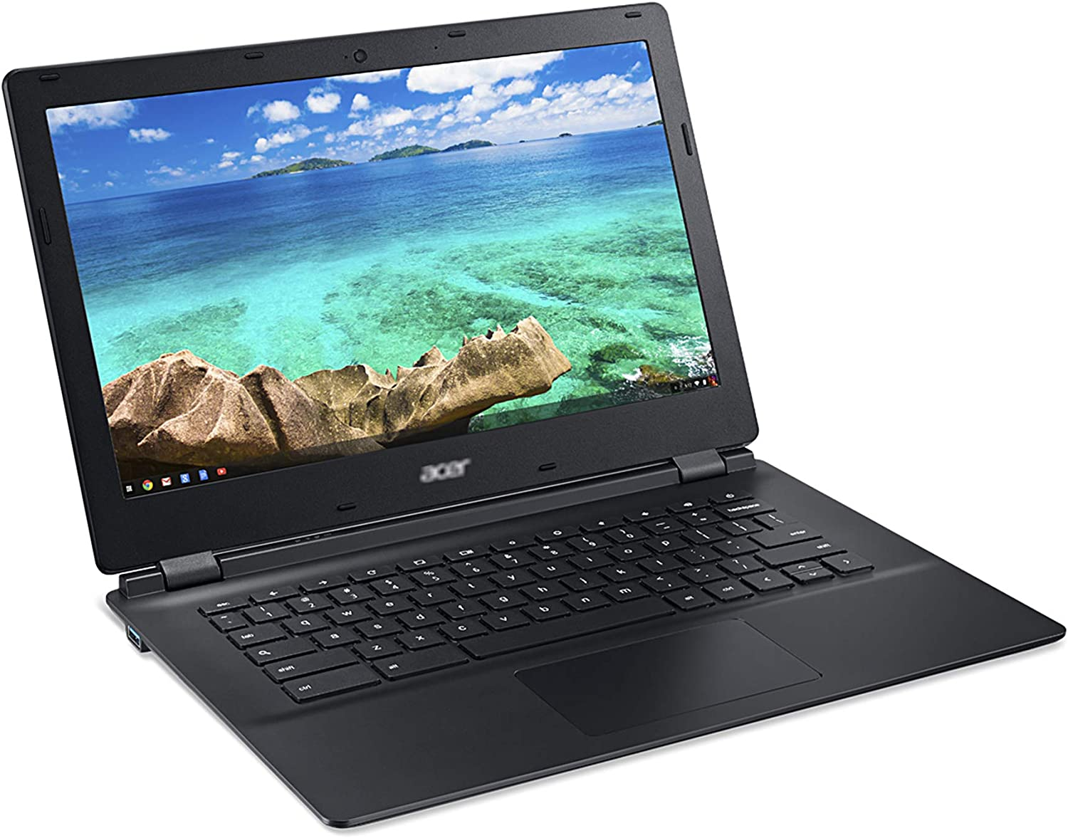 Used Chromebook Laptop 13 C810 NVI Dia Tegra K1 CD570M-A1 2.1GHz, 4GB RAM 16 GB SSD (with Top Cover) Education and Study Computer 13.3-Inch WiFi, HDMI, Chrome OS