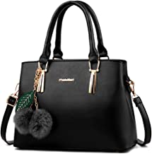 Dreubea Women's Leather Handbag Tote Shoulder Bag Crossbody Purse