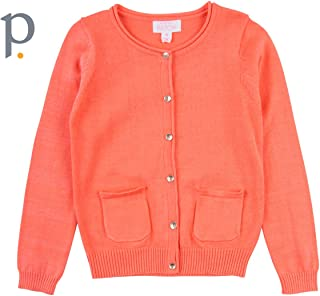 Pumpkin Patch Carly Rose Cardigan Fusion Coral Girls Youth Apparel