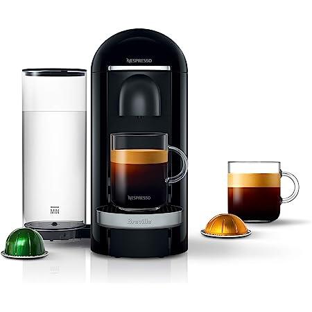Nespresso BNV420BLK VertuoPlus Deluxe Espresso Machine by Breville, Black